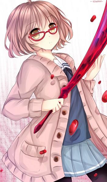 Tags: Anime, VeBonBon, Kyoukai no Kanata, Kuriyama Mirai, Fanart From Pixiv, Mobile Wallpaper, Pixiv, Fanart