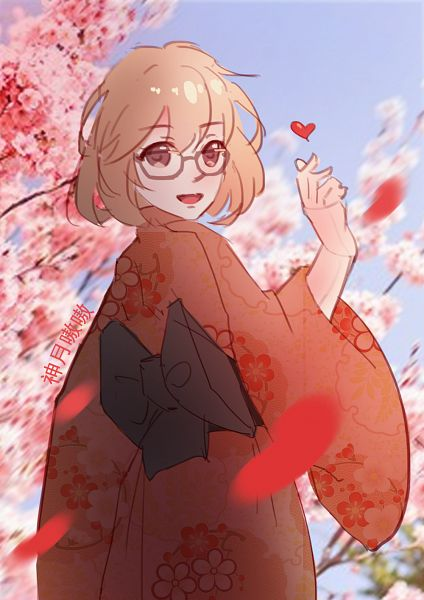 Tags: Anime, Pixiv Id 13895551, Kyoukai no Kanata, Kuriyama Mirai