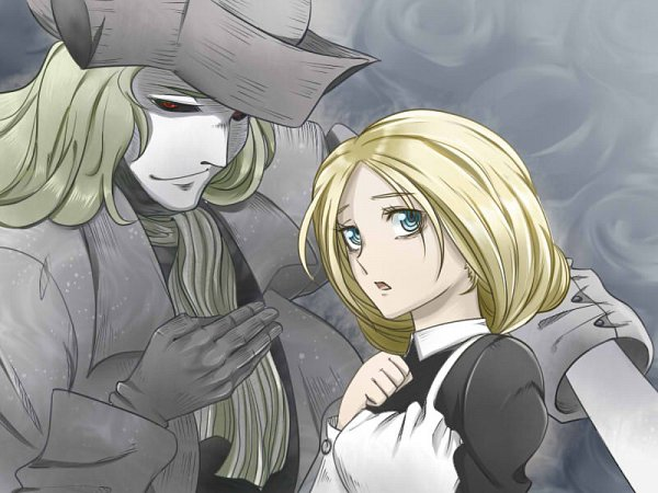 Tags: Anime, Pixiv Id 515273, Kuro Hakubutsukan, Florence Nightingale (Ghost and Lady), The Ghost in Grey, Pixiv, Fanart, Fanart From Pixiv, Black Museum