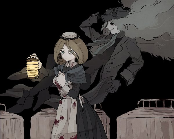 Tags: Anime, Pixiv Id 12864185, Kuro Hakubutsukan, Florence Nightingale (Ghost and Lady), The Ghost in Grey, Pixiv, Fanart, Fanart From Pixiv, Black Museum