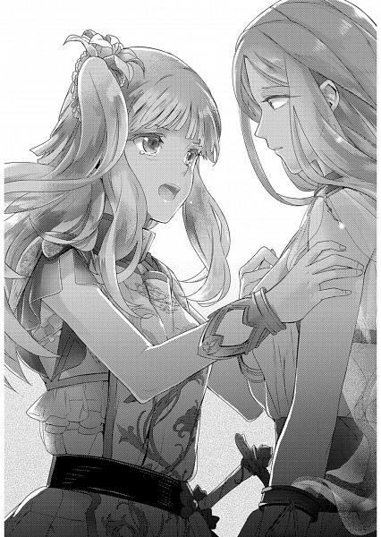 Tags: Anime, Miyuki Ruria, Kuro no Hiera Glaphicos, Solgunnar Rommedahl, Valeria Costacurta, Official Art, Scan, Novel Illustration