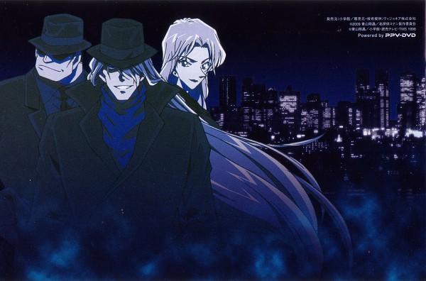 Tags: Anime, Meitantei Conan, Detective Conan: The Raven Chaser, Vodka (Meitantei Conan), Gin (Meitantei Conan), Vermouth, Scan, Official Art, Kuro no Soshiki, Black Organization