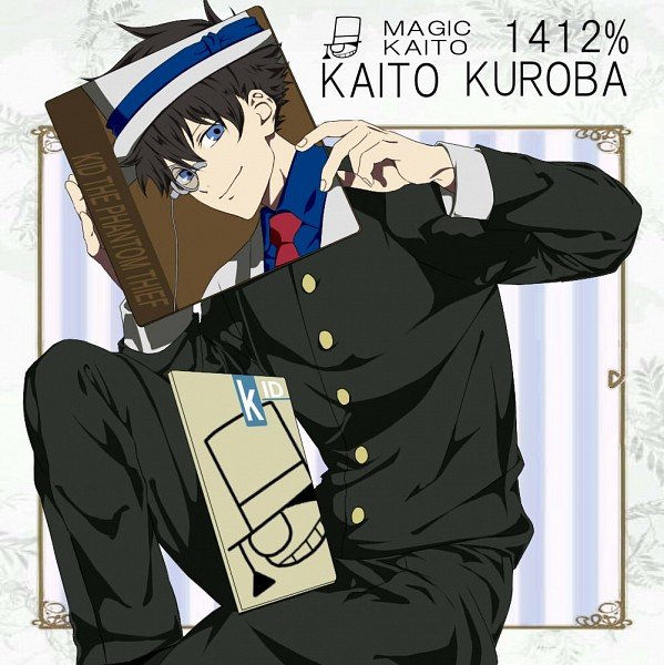 Tags: Anime, Pixiv Id 4332660, Magic Kaito, Kaitou Kid, Kuroba Kaito, Phantom Thieves, Sketchbook, Uta No☆Prince-sama♪ (Parody), CD (Object), Covering Face, Fanart From Pixiv, Fanart, Pixiv