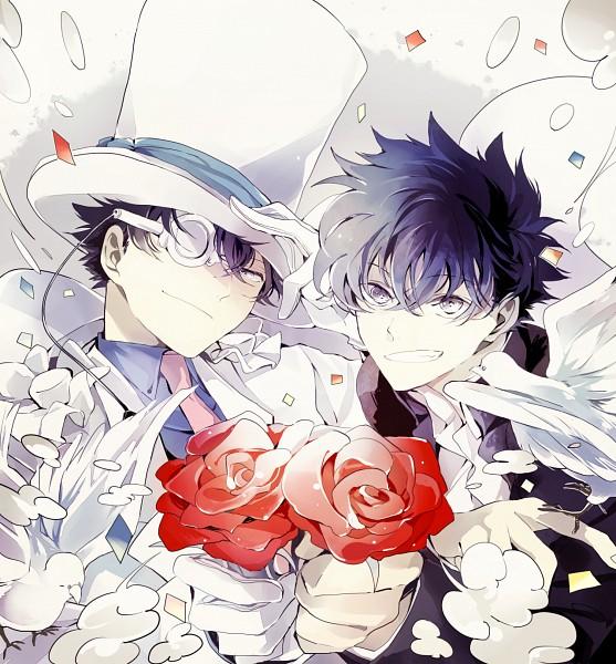 Tags: Anime, rain_drops-ame, Magic Kaito, Kuroba Kaito, Kaitou Kid, Phantom Thieves, PNG Conversion, Pixiv, Fanart From Pixiv, Fanart