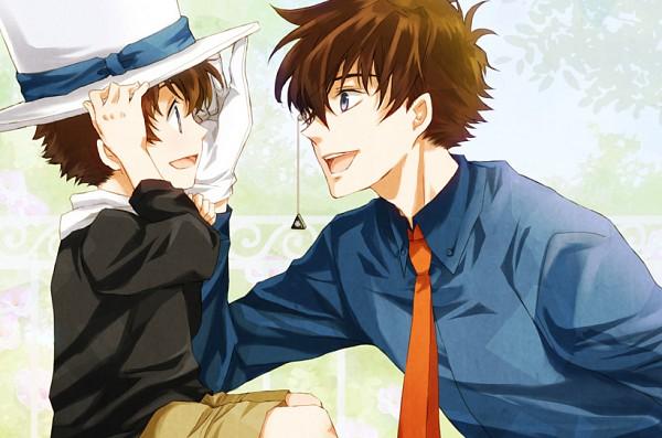 Tags: Anime, Sagari24, Magic Kaito, Kuroba Kaito, Kaitou Kid, Orange Neckwear, Pixiv, Fanart From Pixiv, Fanart