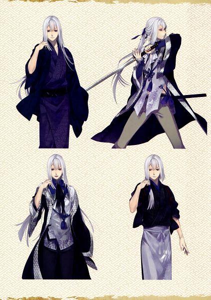 Tags: Anime, Yomi (Pixiv390297), Rejet, Ken ga Kimi Wafuu Denki Emaki, Ken ga Kimi, Kuroba Saneaki, Mobile Wallpaper, Official Art, Character Sheet, Scan