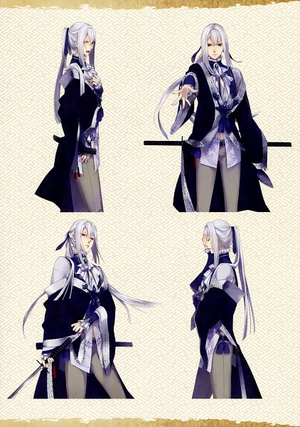 Tags: Anime, Yomi (Pixiv390297), Rejet, Ken ga Kimi Wafuu Denki Emaki, Ken ga Kimi, Kuroba Saneaki, Character Sheet, Scan, Mobile Wallpaper, Official Art