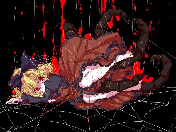 Tags: Anime, Shima Mei, Touhou, Kurodani Yamame, Insect Person, Spider, Pixiv, Fanart, Yamame Kurodani