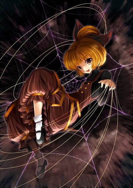 Tags: Anime, Narumizg, Touhou, Kurodani Yamame, Brown Dress, Pixiv, Yamame Kurodani