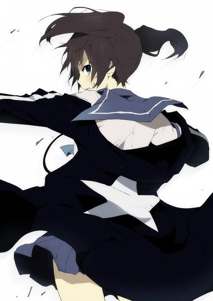Tags: Anime, KL, Black★Rock Shooter, Kuroi Mato, Pixiv, Mobile Wallpaper, Fanart