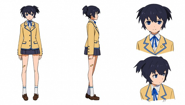 Tags: Anime, SANZIGEN, Black★Rock Shooter, Kuroi Mato, Official Art, Character Sheet, Facebook Cover