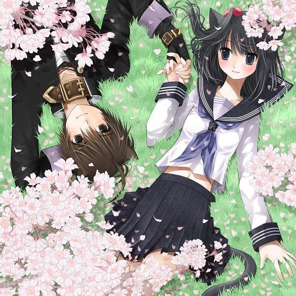 Tags: Anime, Kuroinu, Kanzaki Miku, Kanzaki Hayato, Akatsuki no Kemono, Pixiv
