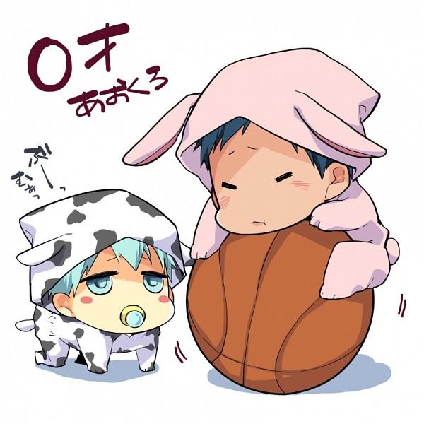 Tags: Anime, Akatsuki Riku, Kuroko no Basuke, Kuroko Tetsuya, Aomine Daiki, Cow Print, Cow Costume, Ushimimi, Pixiv, Fanart From Pixiv, Fanart, Kuroko's Basketball