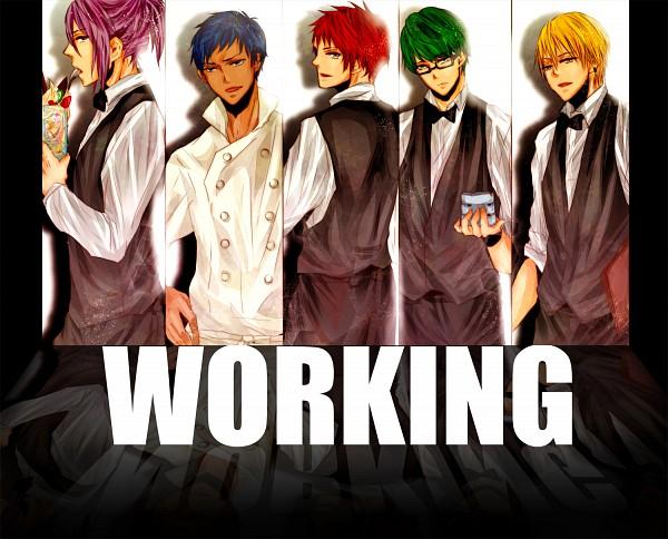 Tags: Anime, Pixiv Id 3907322, Kuroko no Basuke, Aomine Daiki, Kise Ryouta, Murasakibara Atsushi, Akashi Seijuurou, Midorima Shintarou, Cocktail, Working!! (Parody), Pixiv, Rakuzan High, Yousen High, Kuroko's Basketball