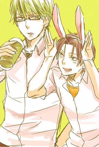 Tags: Anime, Pixiv Id 227763, Kuroko no Basuke, Midorima Shintarou, Takao Kazunari, Sketch, Fanart, Mobile Wallpaper, Fanart From Pixiv, Pixiv, Shuutoku High, Kuroko's Basketball