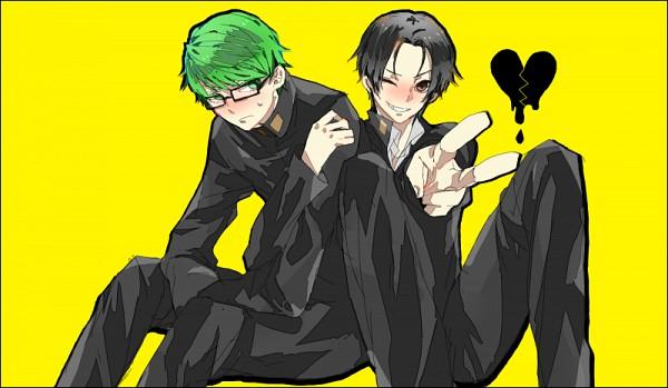 Tags: Anime, Pixiv Id 1021945, Kuroko no Basuke, Midorima Shintarou, Takao Kazunari, Shuutoku High, Kuroko's Basketball