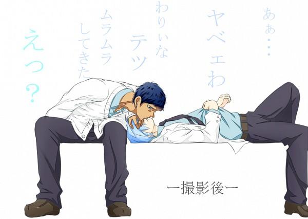 Tags: Anime, Pixiv Id 2332233, Kuroko no Basuke, Aomine Daiki, Kuroko Tetsuya, Sokkuridane, Fanart From Pixiv, Pixiv, Fanart, Kiseki no Sedai, Teikou Middle School