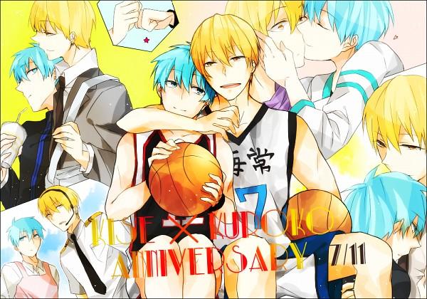 Tags: Anime, Pixiv Id 3573215, Kuroko no Basuke, Kuroko Tetsuya, Kise Ryouta, Bro Fist, Fanart From Pixiv, Pixiv, Fanart, Kaijou High, Seirin High, Kiseki no Sedai, Kuroko's Basketball