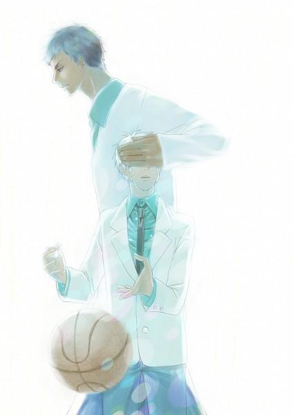 Tags: Anime, Pixiv Id 1051137, Kuroko no Basuke, Aomine Daiki, Kuroko Tetsuya, Fanart From Pixiv, Pixiv, Fanart, Sokkuridane, Teikou Middle School, Kiseki no Sedai