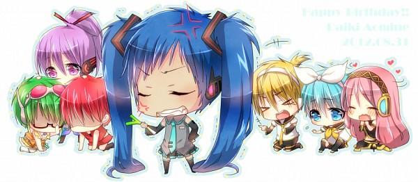 Tags: Anime, Rirumu, Kuroko no Basuke, Momoi Satsuki, Kise Ryouta, Aomine Daiki, Murasakibara Atsushi, Kuroko Tetsuya, Akashi Seijuurou, Midorima Shintarou, Megurine Luka (Cosplay), GUMI (Cosplay), Hatsune Miku (Cosplay), Kuroko's Basketball