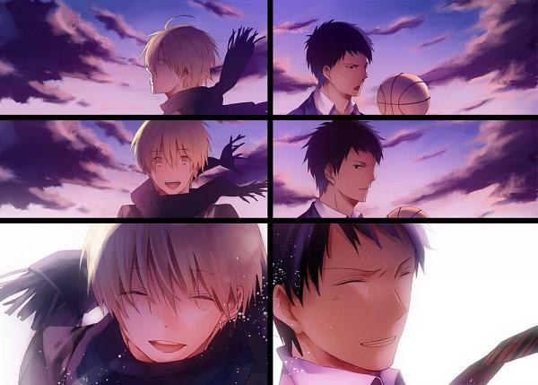 Tags: Anime, Pixiv Id 936936, Kuroko no Basuke, No.6, Aomine Daiki, Kise Ryouta, Pixiv, Kuroko's Basketball