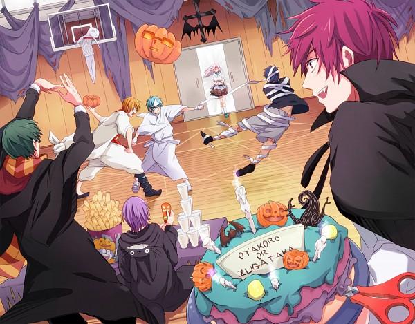 Tags: Anime, Pixiv Id 3946863, Kuroko no Basuke, Aomine Daiki, Murasakibara Atsushi, Akashi Seijuurou, Kuroko Tetsuya, Midorima Shintarou, Momoi Satsuki, Kise Ryouta, Ali Baba Saluja (Cosplay), Totoro (Cosplay), Harry Potter (Parody), Kuroko's Basketball