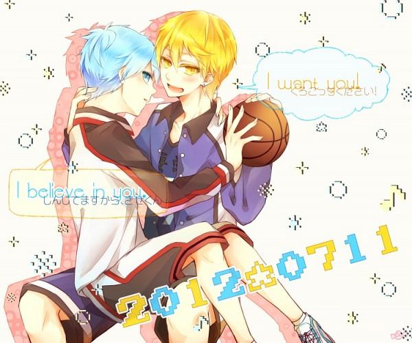 Tags: Anime, Nakano Ame, Kuroko no Basuke, Kuroko Tetsuya, Kise Ryouta, Basketball Uniform (Kaijou High), Kuroko's Basketball