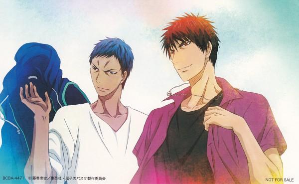 Tags: Anime, Kikuchi Youko, Kuroko no Basuke, Aomine Daiki, Kagami Taiga, Ring Necklace, Official Art, Scan, Wallpaper, Kuroko's Basketball
