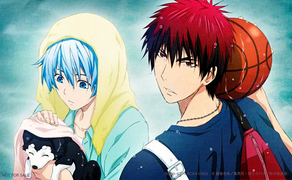 Tags: Anime, Kikuchi Youko, Kuroko no Basuke, Tetsuya No.2, Kagami Taiga, Kuroko Tetsuya, Towel On Head, Official Art, Scan, Wallpaper, Warawasennayo, Kuroko's Basketball