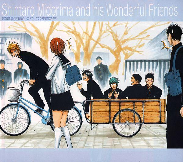 Tags: Anime, Fujimaki Tadatoshi, Kuroko no Basuke, Aida Riko, Kimura Shinsuke, Midorima Shintarou, Miyaji Kiyoshi, Takao Kazunari, Ootsubo Taisuke, Official Art, Scan, Shuutoku High, Kuroko's Basketball