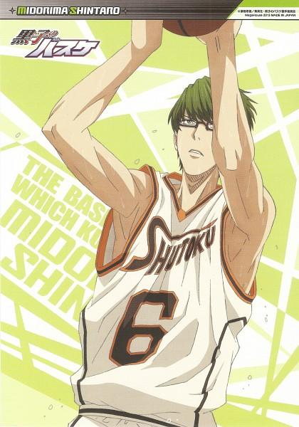 Tags: Anime, Kikuchi Youko, Kuroko no Basuke, Midorima Shintarou, Mobile Wallpaper, Scan, Official Art, Kuroko's Basketball