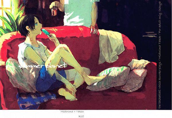 Tags: Anime, Azumi Nonko, Kuroko no Basuke, Midorima Shintarou, Takao Kazunari, Fanart, Doujinshi Cover, Scan, Kuroko's Basketball