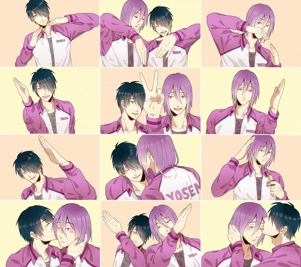 Tags: Anime, Pixiv Id 4139588, Kuroko no Basuke, Himuro Tatsuya, Murasakibara Atsushi, Heart Gesture Duo, Hātotoresu, Fanart From Pixiv, Pixiv, Fanart, Kuroko's Basketball