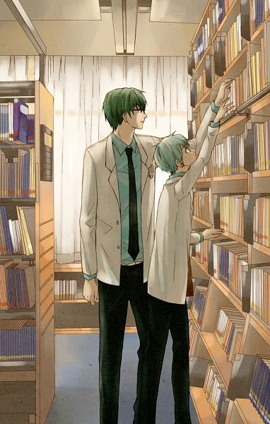 Tags: Anime, ddmoo, Kuroko no Basuke, Kuroko Tetsuya, Midorima Shintarou, Mobile Wallpaper, Pixiv, Fanart, Kuroko's Basketball