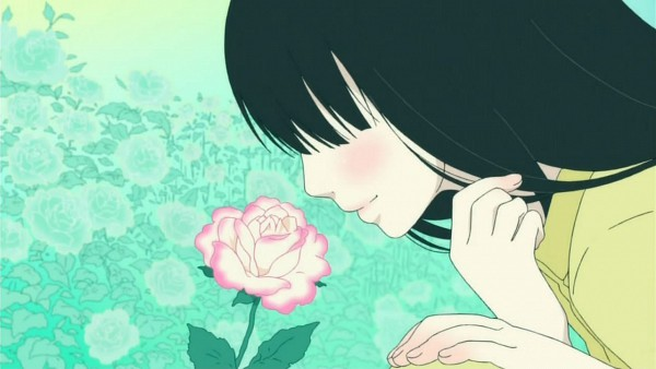Tags: Anime, Kimi ni Todoke, Kuronuma Sawako, Smelling Flower, Screenshot
