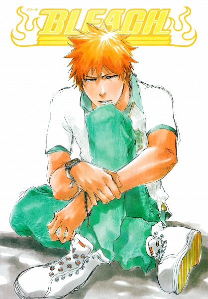 Tags: Anime, Kubo Tite, BLEACH, Kurosaki Ichigo, Holding Wrist, Spanish Text, Manga Color, Official Art, Mobile Wallpaper, Manga Page, Scan, Ichigo Kurosaki