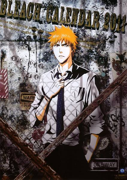 Tags: Anime, BLEACH Calendar 2011, BLEACH, Kurosaki Ichigo, Calendar (Source), Official Art, Scan, Mobile Wallpaper, Calendar 2011, Ichigo Kurosaki