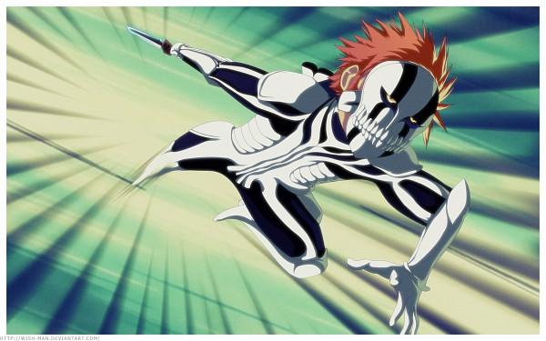 Tags: Anime, Wish-man, BLEACH, Kurosaki Ichigo, Hollow Ichigo, Hollow Mask, Wallpaper, Fullbringer, Ichigo Kurosaki