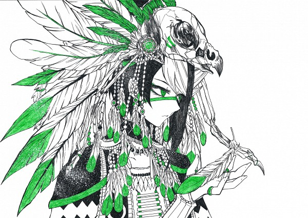 Tags: Anime, Pixiv Id 1379588, Yu-Gi-Oh! ARC-V, Yu-Gi-Oh!, Kurosaki Shun, Native American Clothes, Pixiv, Fanart From Pixiv, Fanart, PNG Conversion, Shay Obsidian