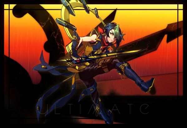 Tags: Anime, Pixiv Id 2765210, Yu-Gi-Oh!, Yu-Gi-Oh! ARC-V, Kurosaki Shun, Raidraptor - Ultimate Falcon (Cosplay), Fanart From Pixiv, Pixiv, Fanart, Shay Obsidian