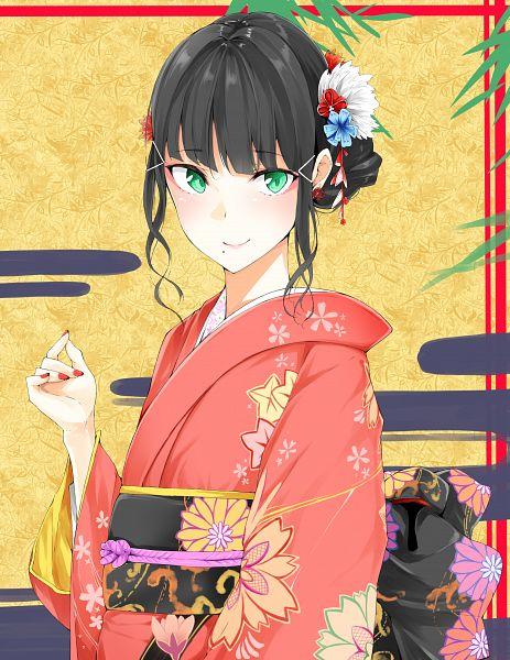 Tags: Anime, Flat (Ko-do), Love Live! Sunshine!!, Kurosawa Dia, Pixiv, Fanart, Fanart From Pixiv, Dia Kurosawa
