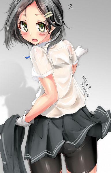 Tags: Anime, Mokufuu, Kantai Collection, Kuroshio (Kantai Collection), Bike Shorts, PNG Conversion