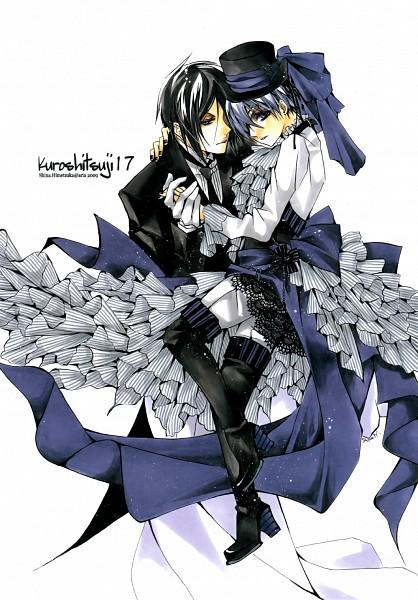Tags: Anime, Shina Himetsuka, Kuroshitsuji, Ciel Phantomhive, Sebastian Michaelis, deviantART, Traditional Media, Mobile Wallpaper, Black Butler