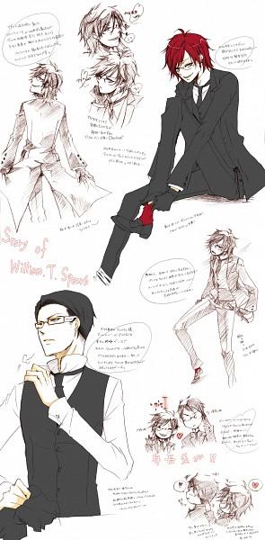 Tags: Anime, Camellia (Artist), Kuroshitsuji, William T. Spears, Grell Sutcliff, Fanart, Pixiv, Fanart From Pixiv, Black Butler