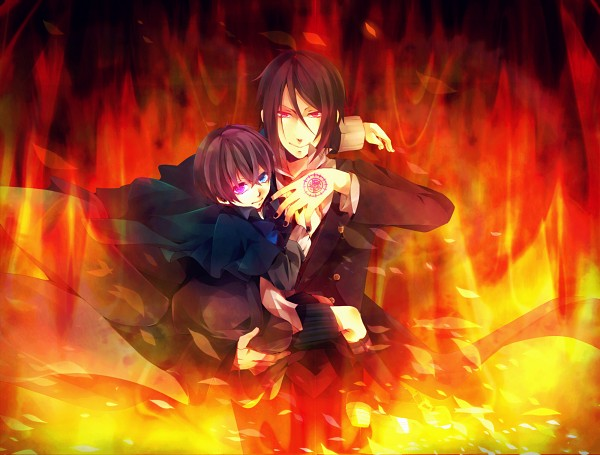 Картинки аниме огонь