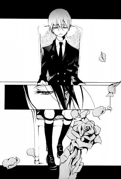 Tags: Anime, Shina Himetsuka, Kuroshitsuji, Sebastian Michaelis, Ciel Phantomhive, Mobile Wallpaper, Doujinshi Page, Fanart, Black Butler