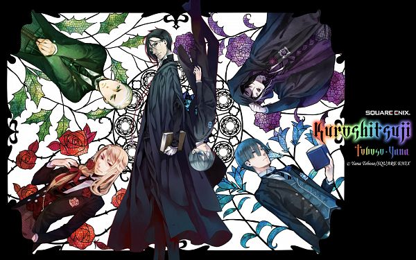 Tags: Anime, Toboso Yana, Kuroshitsuji, Lawrence Bluewer, Herman Greenhill, Ciel Phantomhive, Gregory Violet, Sebastian Michaelis, Edgar Redmond, Official Wallpaper, Official Art, Wallpaper, P4 (Group), Black Butler