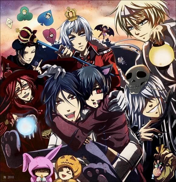 Tags: Anime, KuroMai, Kuroshitsuji, Kuroshitsuji II, Tanaka, Lau, Charles Grey, Bardroy, Undertaker, Agni, Mey-Rin, Hannah Anafeloz, Grell Sutcliff, Black Butler