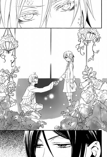 Tags: Anime, Toboso Yana, Kuroshitsuji, Kuroshitsuji: Book of Circus, Ciel Phantomhive, Sebastian Michaelis, Snake (Kuroshitsuji), Manga Page, Mobile Wallpaper, Scan, Black Butler