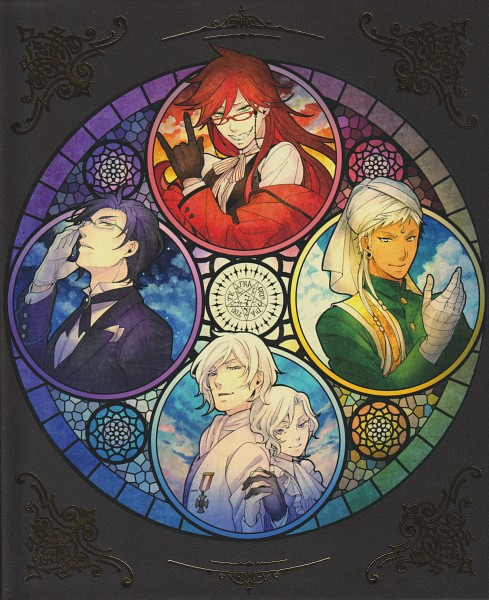 Tags: Anime, Toboso Yana, A-1 Pictures, Kuroshitsuji, Ash Landers, Claude Faustus, Agni, Angela Blanc, Grell Sutcliff, Indian Clothes, Stained Glass, Scan, DVD (Source), Black Butler